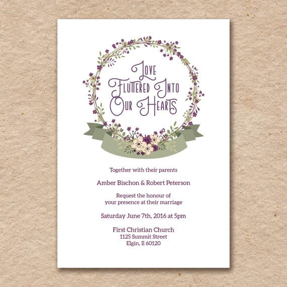 The 25 best Purple wedding invitation sets ideas on Pinterest