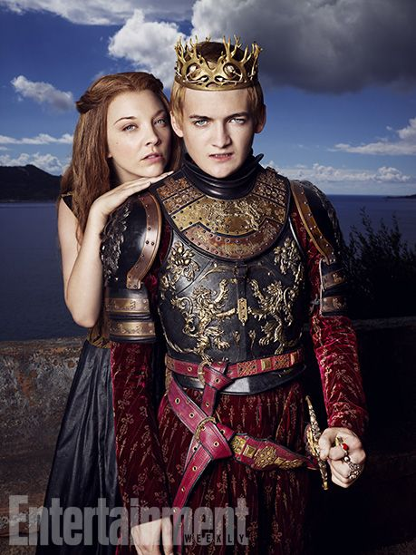 Natalie Dormer as Margaery Tyrell and Jack Gleeson as Joffrey I Baratheon