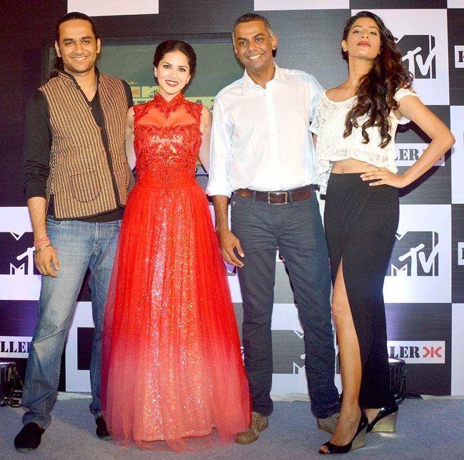 Sunny Leone at the launch of MTV Splitsvilla Season 7. #Style #Bollywood #Fashion #Beauty