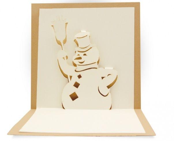 Kirigami gratuit bonhomme de neige