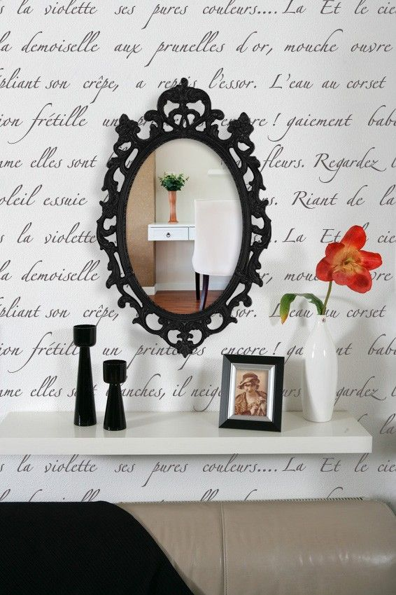 Typography Wall Stencil Springtime in Paris-Allover Stencil for Vintage or Modern Wall Decor