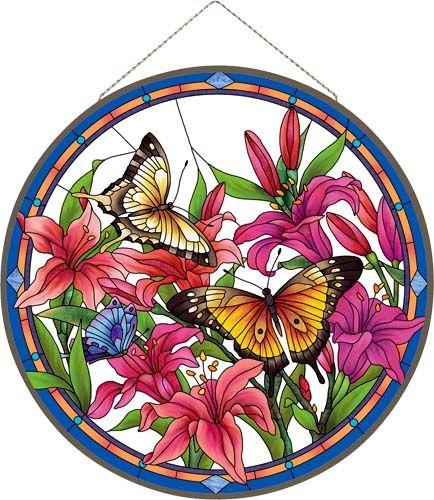 Art Panel-APM508R-Butterflies/Lilies - Butterflies/Lilies
