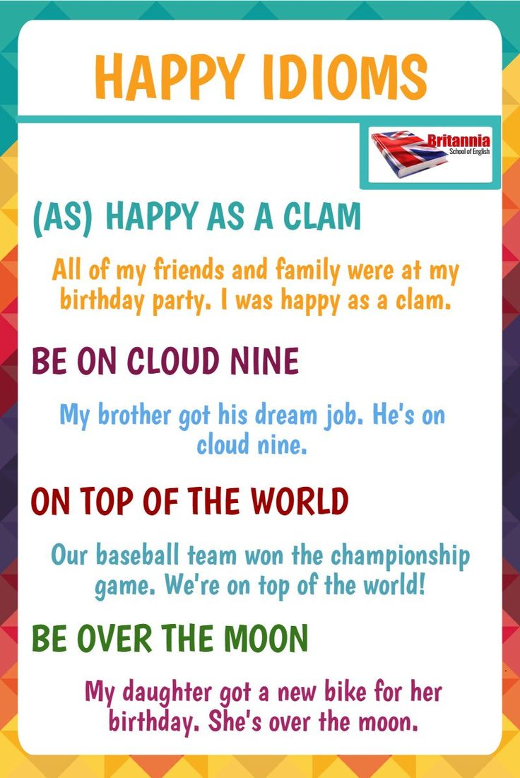 Happy idioms