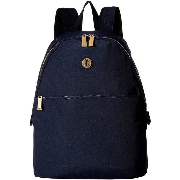 Tommy Hilfiger Back To School - Backpack (Navy) Backpack Bags (46 CAD) ❤ liked on Polyvore featuring bags, backpacks, navy, strap bag, tommy hilfiger backpack, navy blue bag, navy backpack and tommy hilfiger