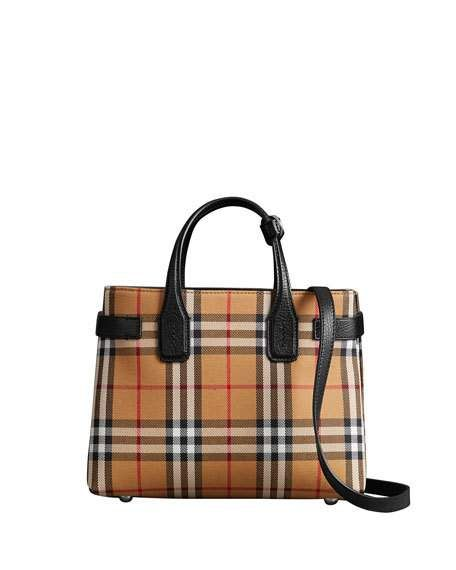 Get free shipping on Burberry Banner Small Vintage Check Tote Bag at Neiman  Marcus. Shop the latest luxury fashions from top designers. 7c24662678645