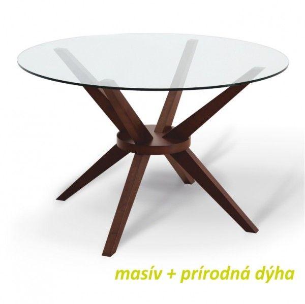 Jídelní stůl, ořech, GLAS | obchodplnyslev.cz
