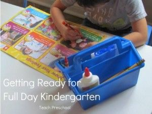Helping your child get ready for full day kindergarten