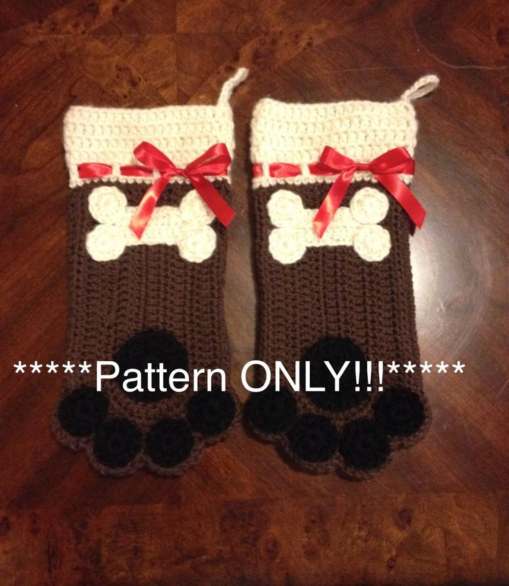 Free Dog Christmas Stocking Crochet Pattern : 17 Best images about Crochet on Pinterest Free pattern ...