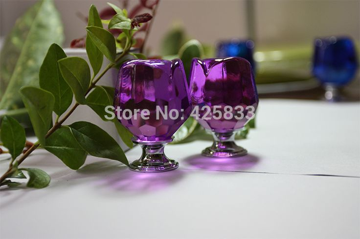 6 шт. стекло пурпурная роза ручки цветы мебель для кухни ручки ручка груди шкаф ящика дверные ручки тянет