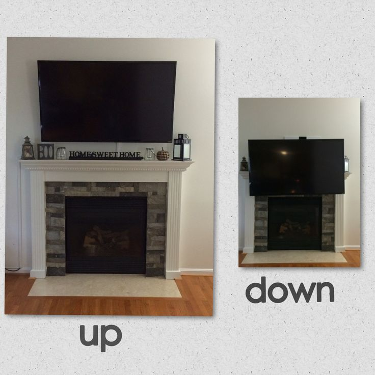 Best 25 tv mount over fireplace ideas on pinterest tv - Tv wall mount above fireplace ...