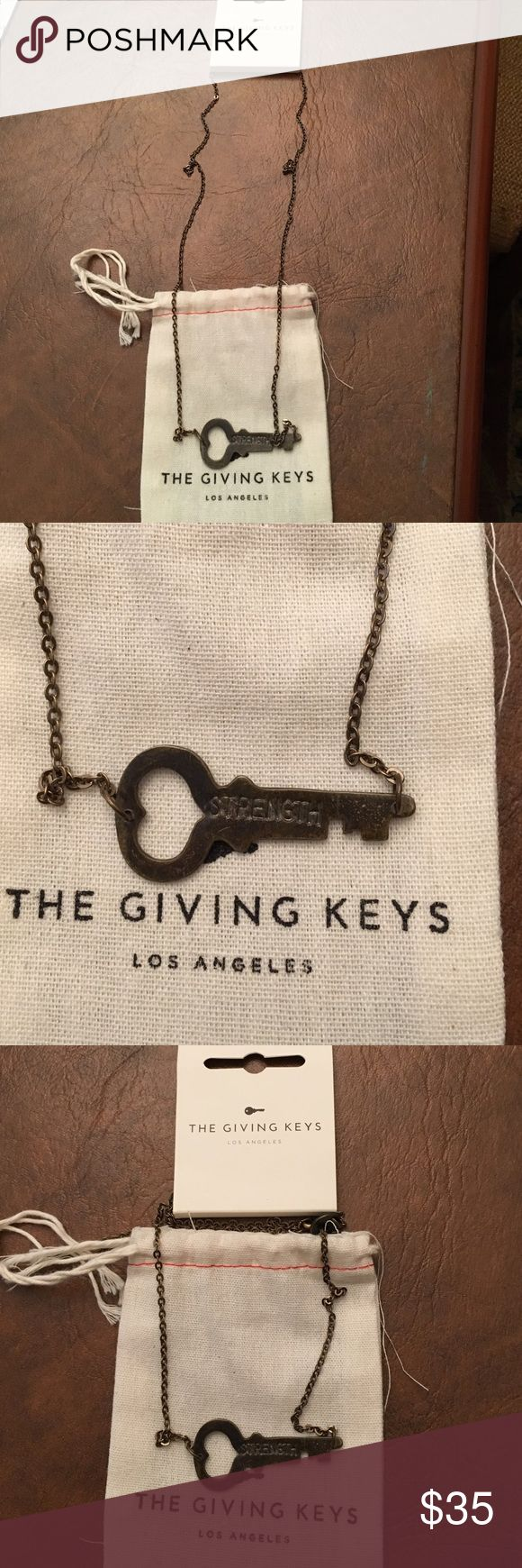 The Giving Key necklace. NWT. STRENGTH. The Giving Key necklace. NWT. STRENGTH. The Giving Keys Jewelry Necklaces