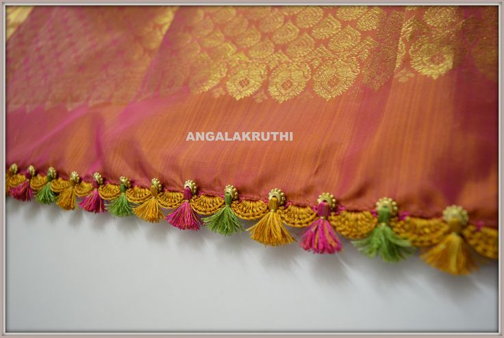 Angalakruthi_saree pallu kuchu designs Angalakruthi Ladies and kids boutique in Bangalore  watsapp:+91-8884347333