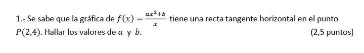 Ejercicio 1A 2013-2014 Junio. Propuesto en examen pau de Canarias. Matemática. Continuidad, derivabilidad y representación de funciones. Límites.
