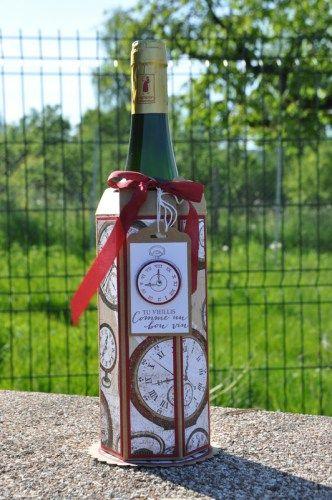 Tutoriel emballage porte bouteille par Marie Meyer Stampin up - http://ateliers-scrapbooking.fr/