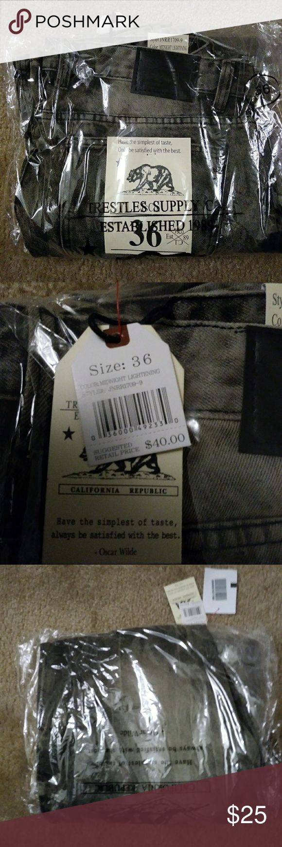California republic jeans SIZE36 Size 36 Never worn still in package  Midnight lightning/gray color California republic Jeans Relaxed
