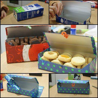 caja de leche reciclada!