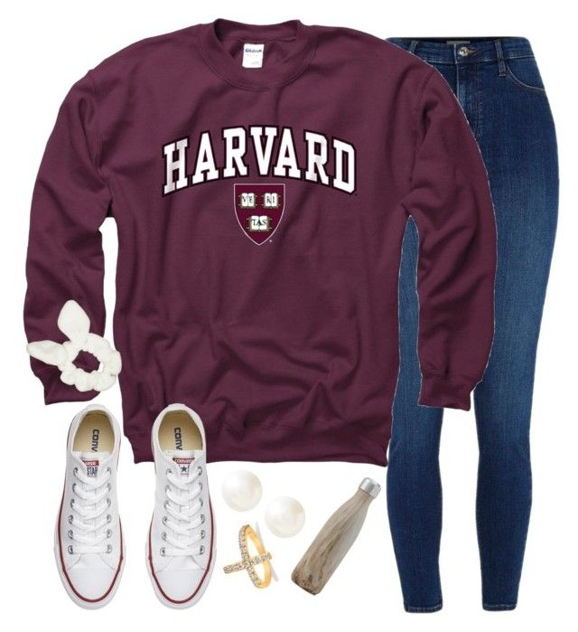 """pulled together and warm"" by sydneyyryane ❤ liked on Polyvore featuring River Island, Gameday Boots, Converse, Banana Republic and Allurez"