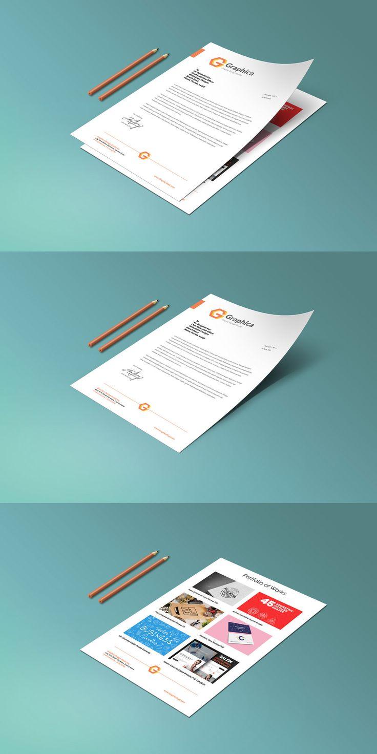 Letterhead And Paper Portfolio Mockup Psd Mockup Free Psd Design Freebie Letterhead