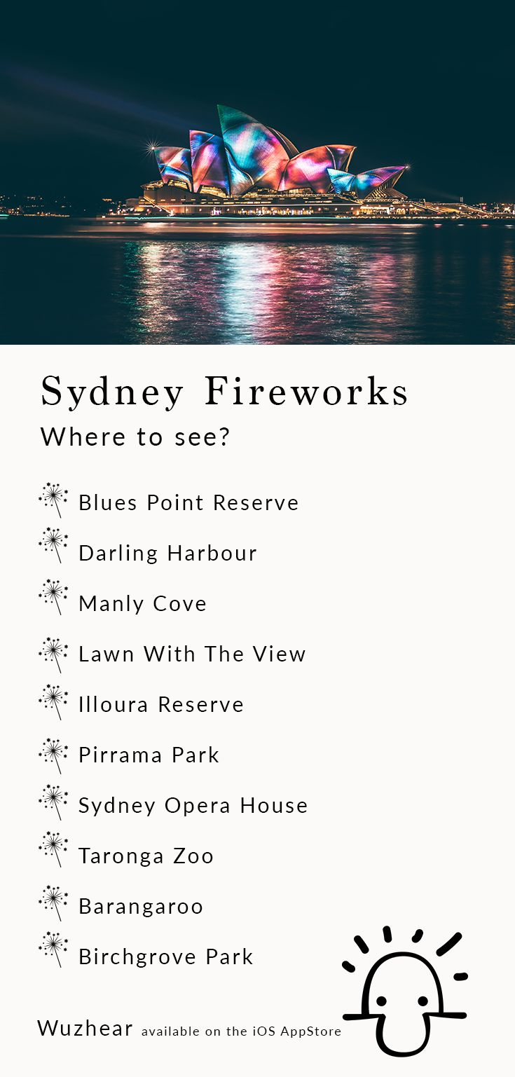 You're in Sydney, Australia. (Crikey!) It's December 31st here's where to go! #nye #sydney