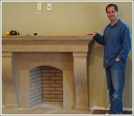 Build Classic Stone Cast Stone Mantel Surrounds with MantelsDirect's Fireplace Mantel Kits