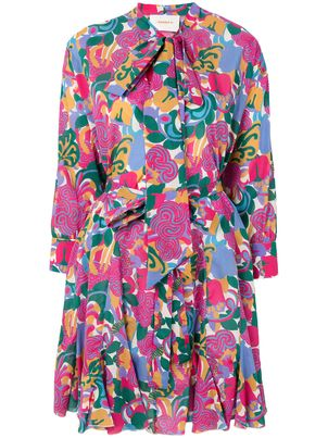c45df7fa0a2 Long Sleeve Cotton Over the Bikini Dress in Zoo Rosa | L U S T ...