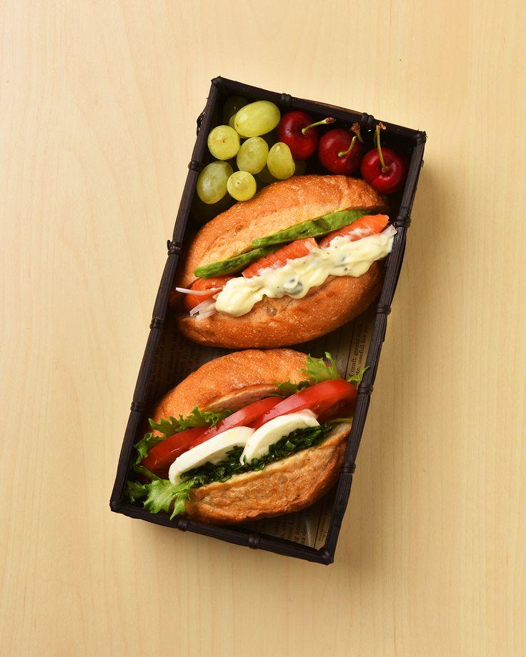 プチフランスサンド弁当 / Mini Baguette Sandwiches Bento #edit_jp