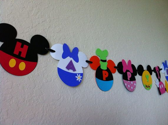 Deluxe Mickey Mouse Clubhouse Banner with by Getcreativewithkay