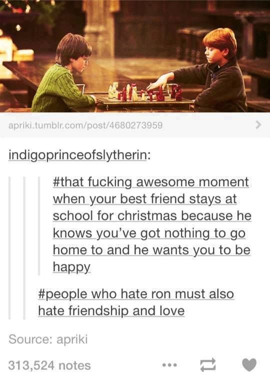 YES. I hate when people bash Ron. He's not perfect but he's an amazing person and friend.