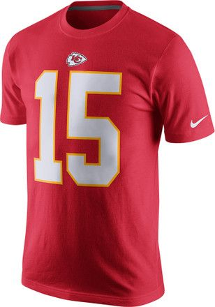 eac48996 Patrick Mahomes Kansas City Chiefs Mens Red Name and Number Player Tee