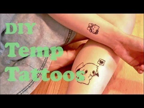 DIY temporary tattoos with eyeliner and liquid bandage - YouTube - Maybe bad wolf or something