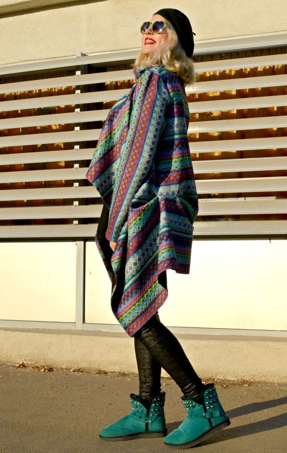 SUN SALE 25% OFF Extravagant Boho Cardigan / Funky Winter