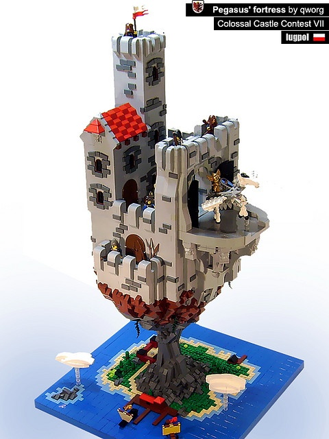 #LEGO Pegasus' fortress.  As you may know if you follow me--I am really liking these structures that seem to float in the air.  Nice example.
