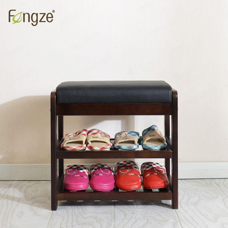 Fengze интерьера современный 2 уровня шкаф твердой древесины обуви гостиная прихожей коробка для хранения стул самостоятельным чистая кожа подушки купить на AliExpress