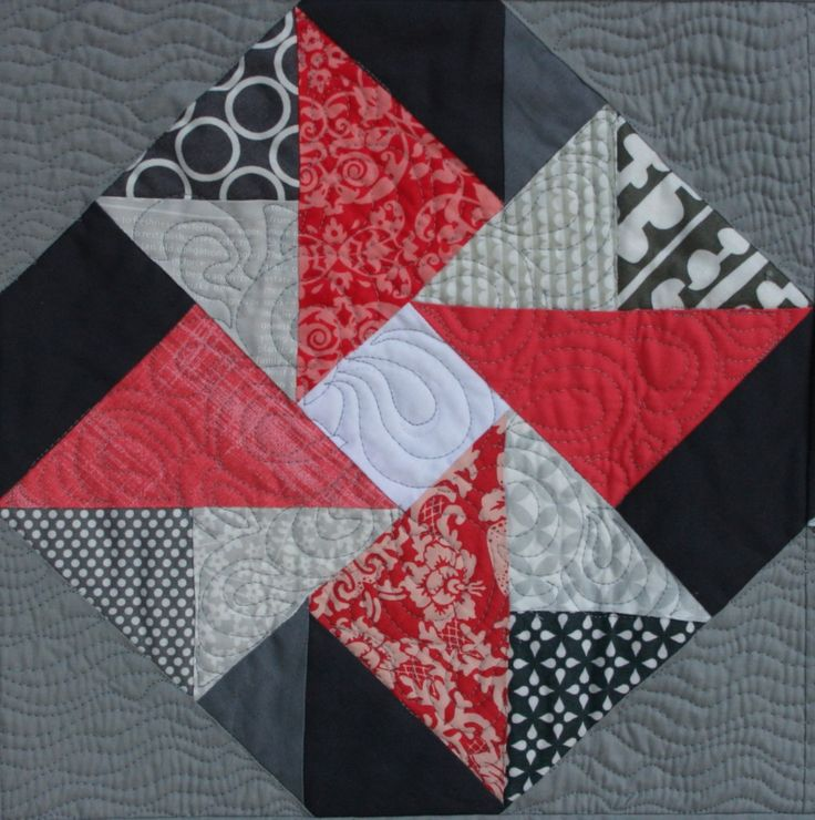 Vintage Quilt Revival Quilts: Double Dutch Table Runner; red, black & white