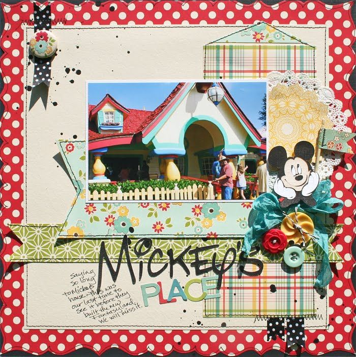 Creatively Savvy: Mickey's Place: Scrapbook Ideas, Scrapbook Crafts, Scrap Disney, Disney Scrapbook Layout, 2012 Disney, Scrapbook Disney, Disney Layout, Mickey Places, Creative Savvy