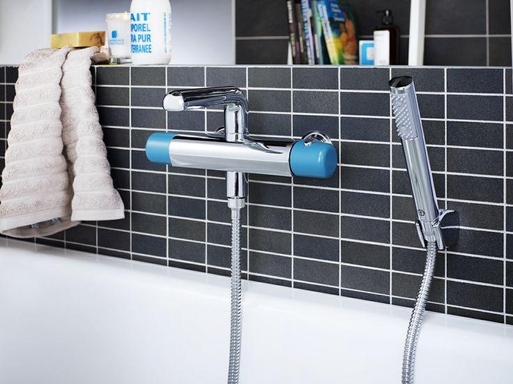 Badkarsblandare från Logic. Sätt en personlig prägel på ditt badrum med färgglad blandare från Logic. Finns i fyra temperamentsfulla färger. | GUSTAVSBERG
