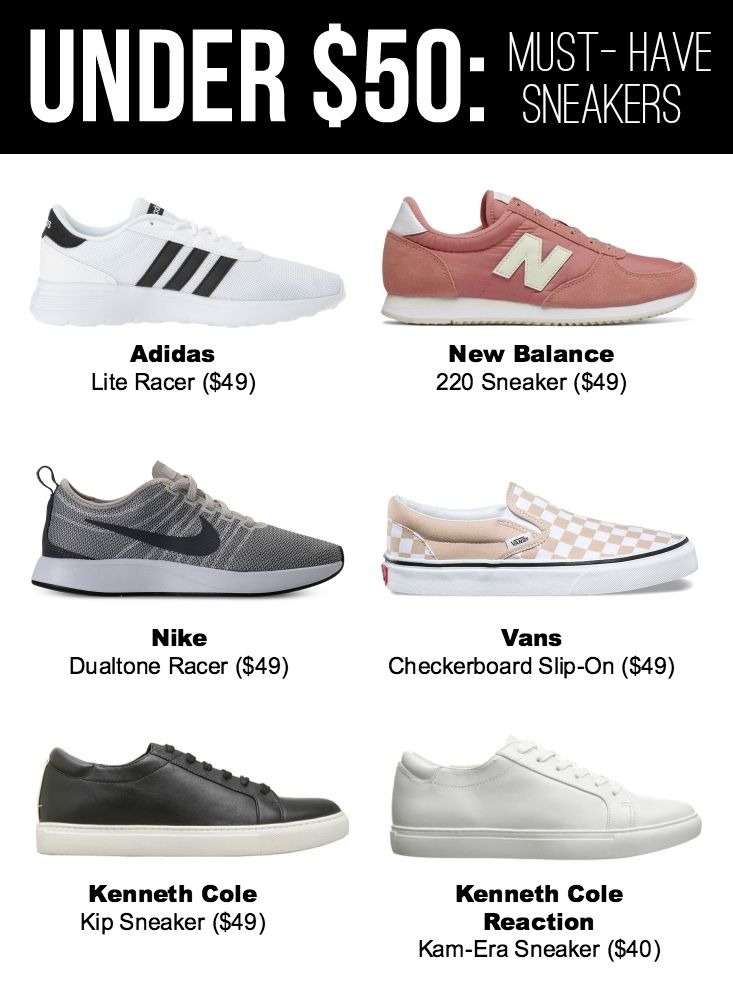 Under $50: Sneakers I'm Loving Right