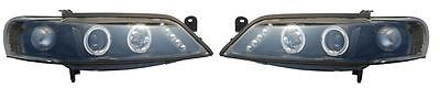 Vauxhall vectra mk2 #1999-2002 #headlights / #lamps angel eyes black inner 1 pair,  View more on the LINK: http://www.zeppy.io/product/gb/2/231562495243/