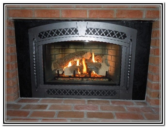 Ventless gas fireplace insert lowes homedepot home Contemporary wood burning fireplace inserts