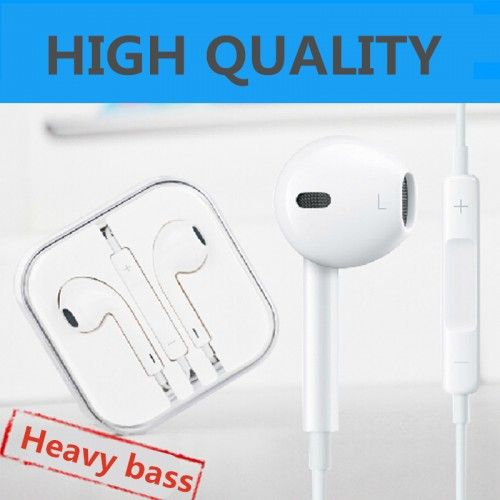 For apple earpods In-Ear Headphone Earphone With Remote & Mic Heavy bass For Mobile Phone IPhone 6 6s Plus 5 5s(Original quality