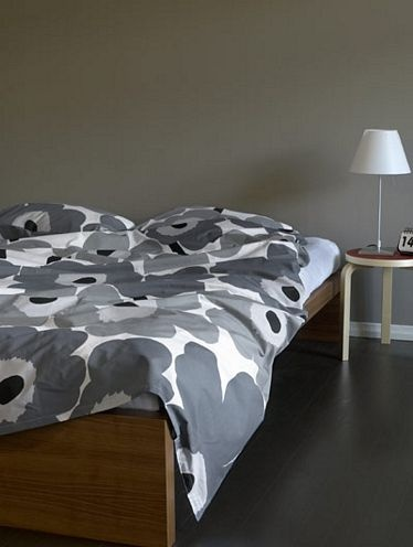Marimekko Grey Unikko Single Duvet Cover