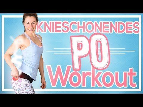 Sehr effektives Knieschonendes Po & Bein Workout | Knack Po Training für zuhause | Ohne Springen - YouTube