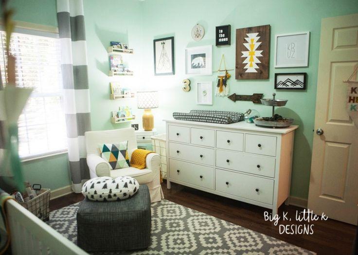 Rustic Modern boy nursery - Big K, little k designs IKEA changing table