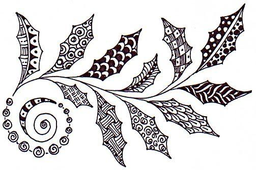 doodle leaves