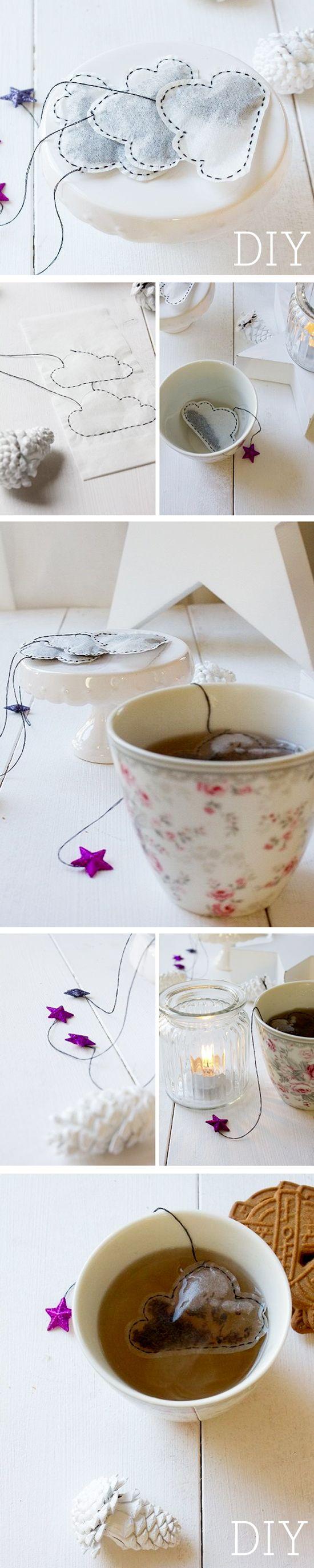 #TUTO : idée cadeau pour thé addict : les sachet de thé nuage !  #tea #gift #xmas #cloud