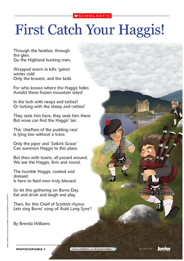 silly poem about catching a haggis