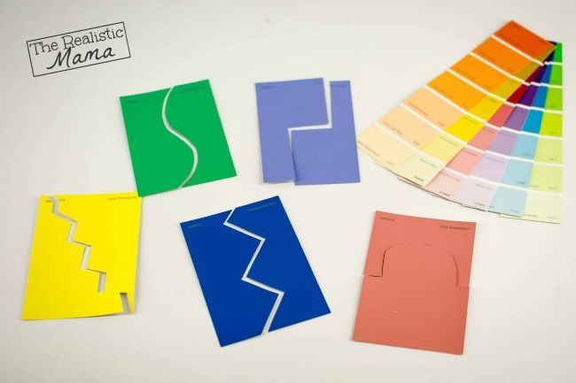 DIY Free Puzzle Games with Paint Samples - The Realistic Mama