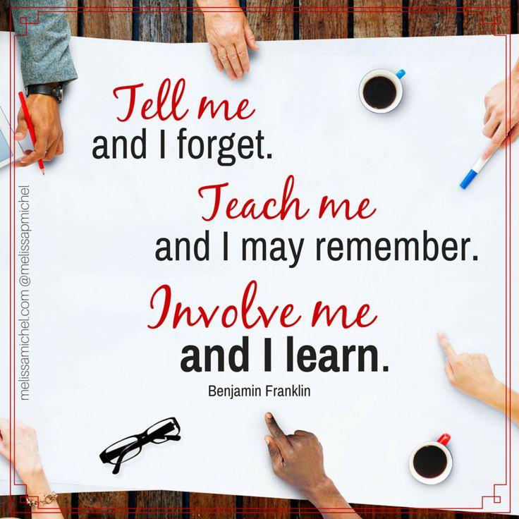 teach tell involve