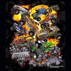 monster jam fleece blanket making blankets pinterest