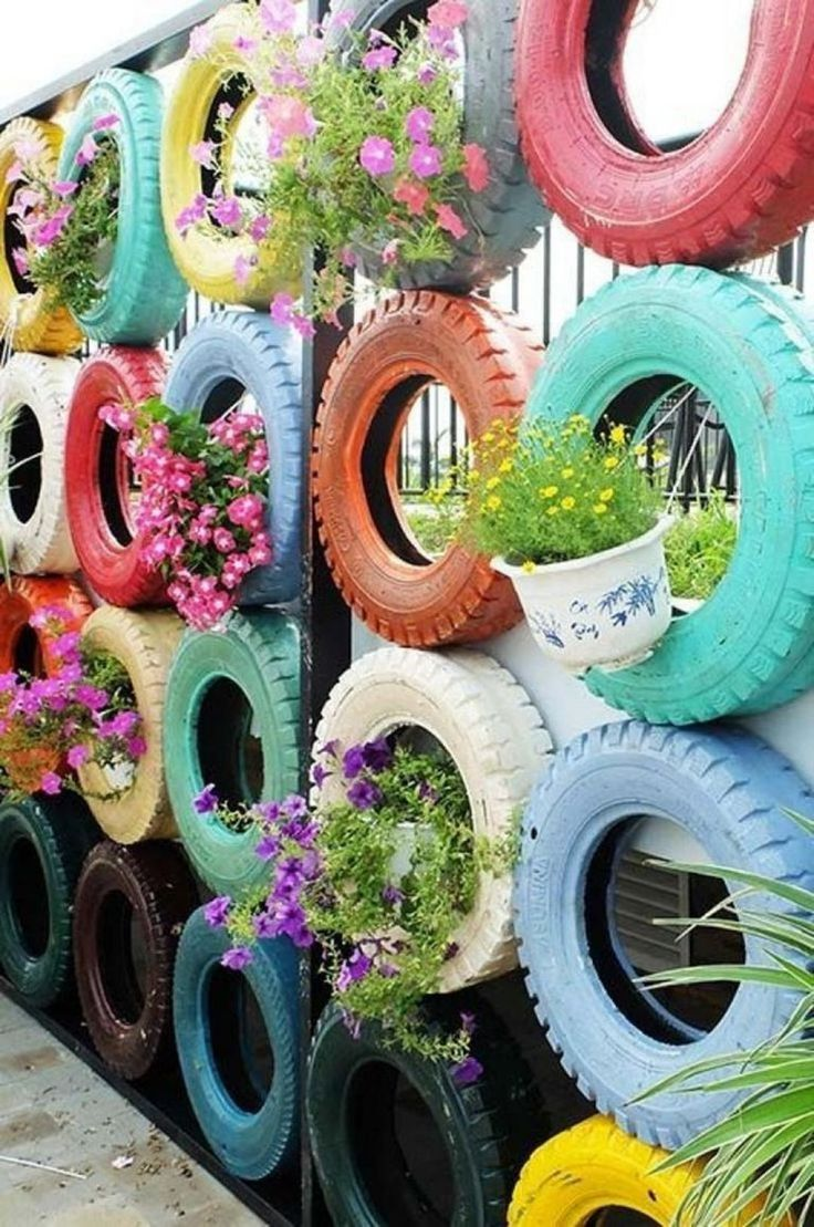 8 Incredible DIY Used Tires Garden Design Ideas For New ...